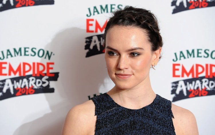 girl, pose, look, hair, face, actress, hairstyle, daisy ridley