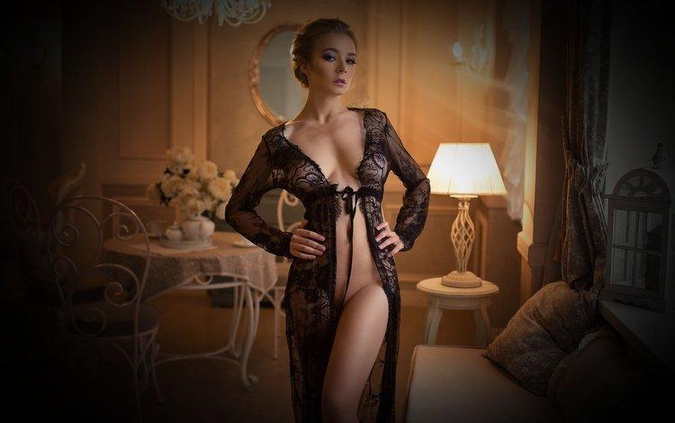 девушка, блондинка, модель, комната, тарас таранда, girl, blonde, model, room, taras taranda