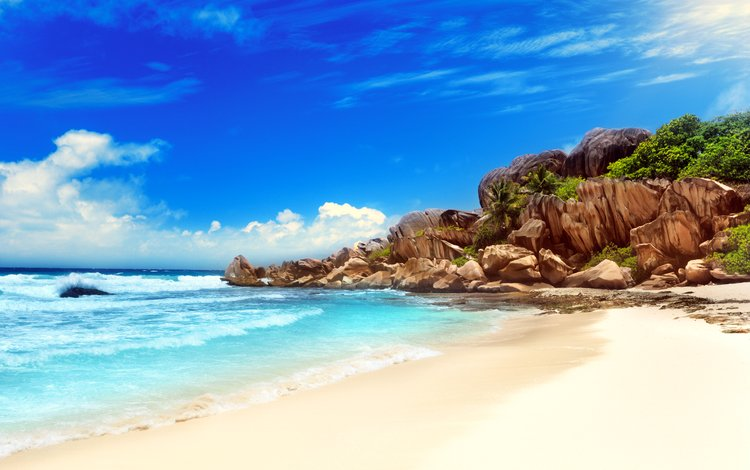 море, пляж, тропики, 5, сейшелы, sea, beach, tropics, seychelles