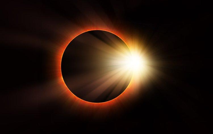 солнце, космос, звезда, затмение, солнечное затмение, the sun, space, star, eclipse, solar eclipse