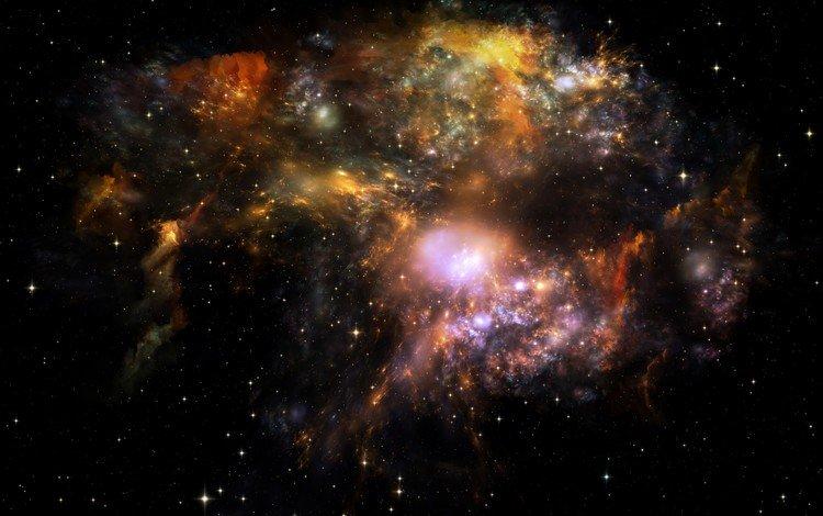 небо, космос, звезды, the sky, space, stars