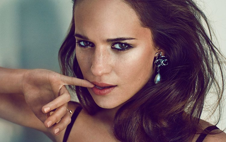 girl, portrait, look, hair, face, actress, celebrity, alicia vikander