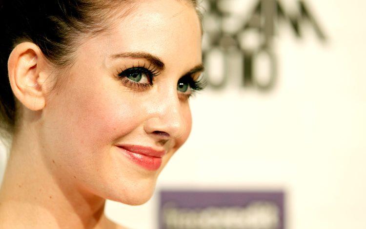 eyes, girl, smile, look, hair, face, alison brie