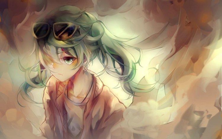 sunglasses, hatsune miku, anime art