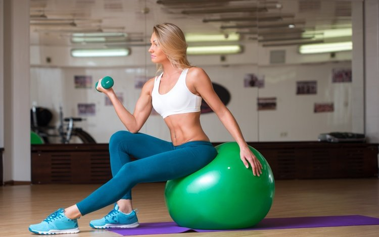 blonde, the ball, fitness, sports wear, workout, fitball