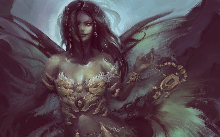 art, girl, fiction, fantasy, the demon, mermaid, mythology