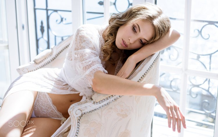 girl, model, chair, linen, galina tcivina