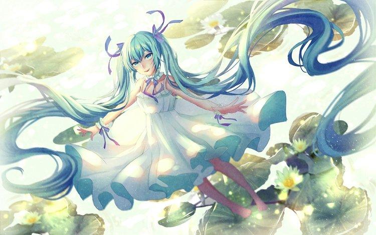 гуманоид, мику хацунэ, long hair anime girl, humanoid, hatsune miku