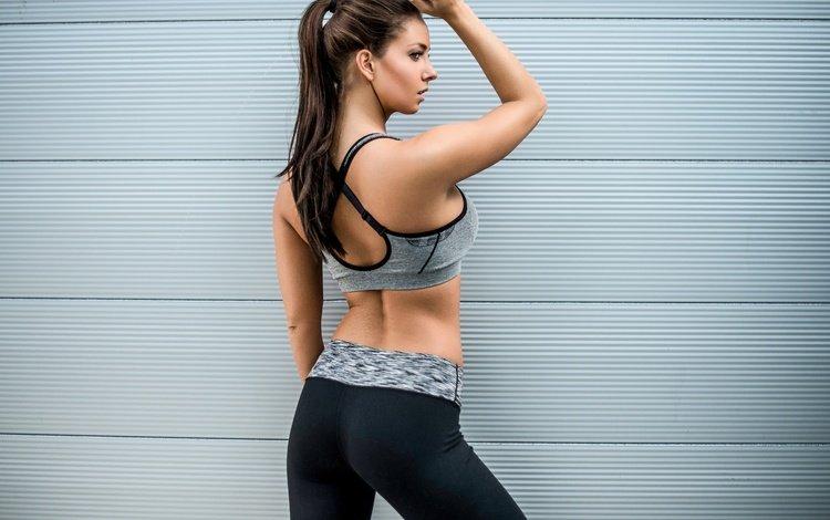 girl, background, model, profile, back, face, figure, fitness, janna breslin, jeanne breslin