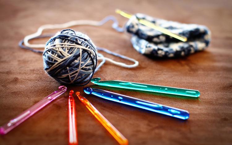 thread, knitting, yarn, hook, hooks