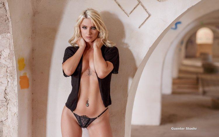 девушка, блондинка, взгляд, модель, guenter stoehr, girl, blonde, look, model