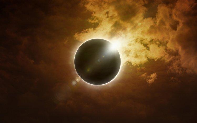 небо, солнце, звезда, затмение, the sky, the sun, star, eclipse