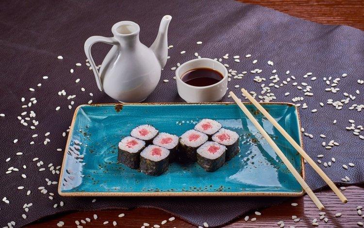 рыба, натюрморт, соус, рис, суши, роллы, морепродукты, fish, still life, sauce, figure, sushi, rolls, seafood