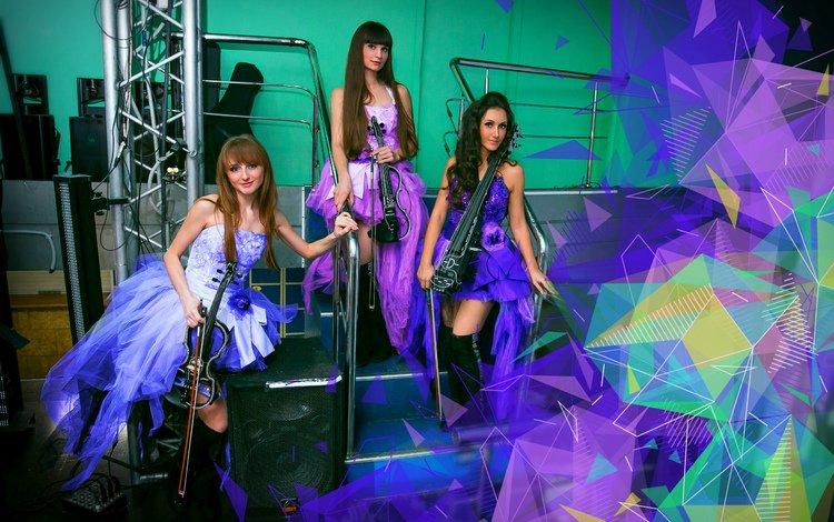 group, violin, girls, musicians, violinist, violin group dolls, elektroskripke