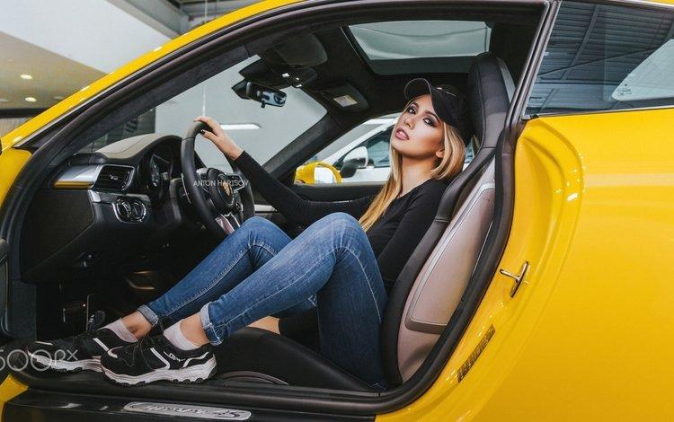девушка, anton harisov, maria vasilieva(, блондинка, maria vasilieva, взгляд, модель, джинсы, волосы, лицо, автомобиль, girl, blonde, look, model, jeans, hair, face, car