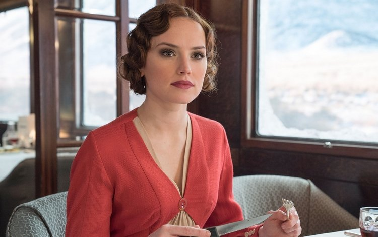 girl, look, hair, face, actress, daisy ridley, murder on the orient express, 2017 movie