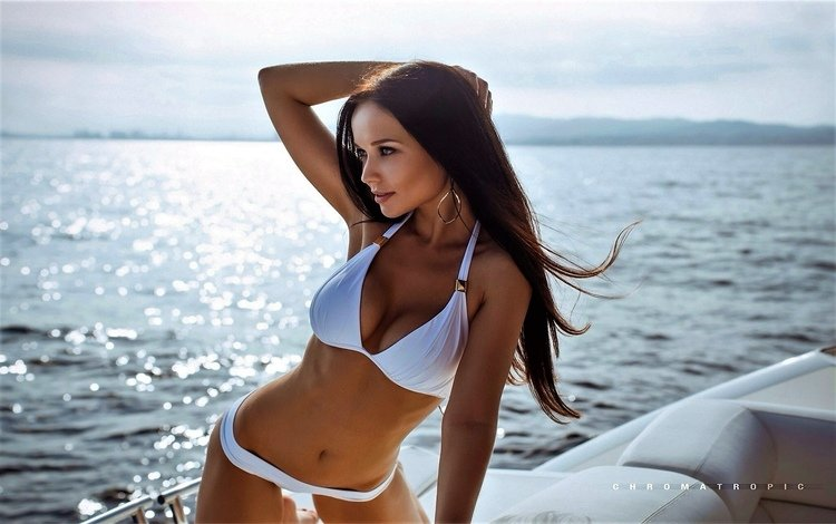 girl, model, yacht, angelina petrova