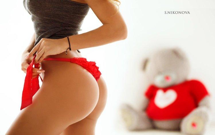 girl, photo, ass, panties, bows