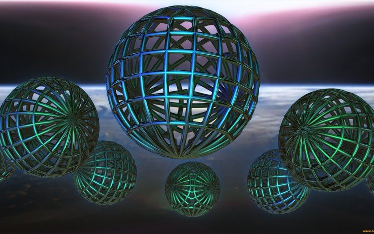 balls, graphics, 3d