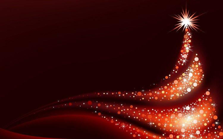 new year, tree, stars, christmas, christmas decorations