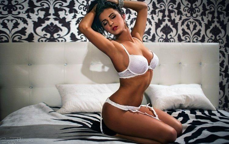 girl, beauty, linen