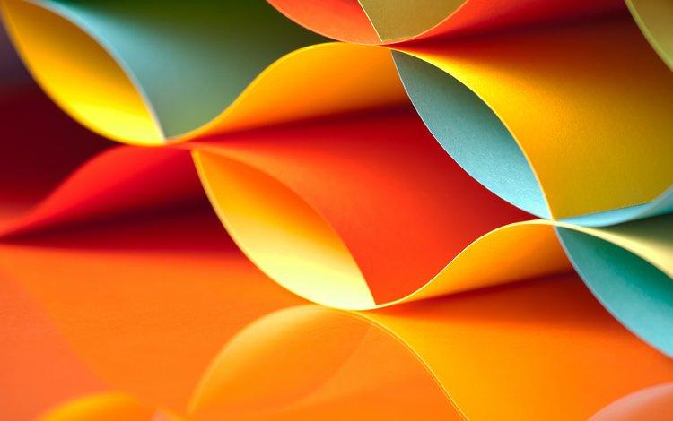 волны, отражение, разноцветные, бумага, цвет, форма, wave, reflection, colorful, paper, color, form