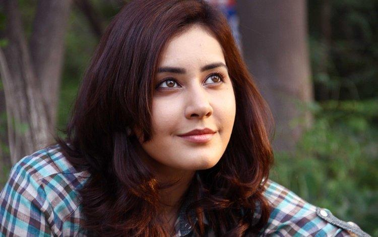 girl, smile, portrait, look, hair, lips, face, actress, indian, rashi khanna