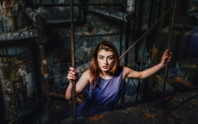 girl, look, red, model, hair, the rise, face, warehouse, silvere koulouris