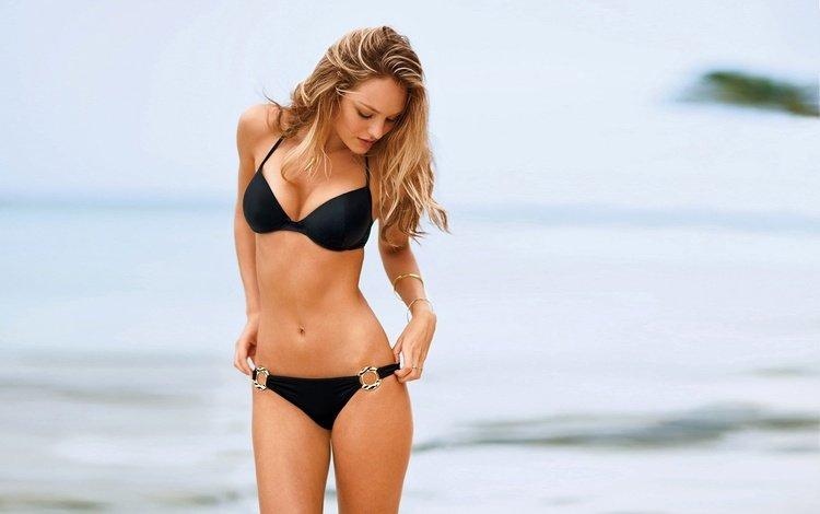 девушка, блондинка, модель, бикини, длинные волосы, кэндис свейнпол, girl, blonde, model, bikini, long hair, candice swanepoel