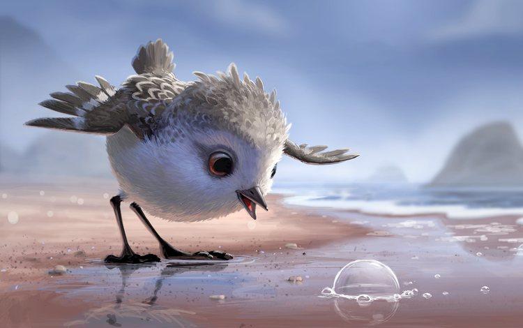 мультфильм, клюв, перья, птичка, пиксар, дисней, cartoon, beak, feathers, bird, pixar, disney