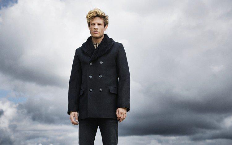 небо, взгляд, актёр, лицо, пальто, джеймс нортон, the sky, look, actor, face, coat, james norton