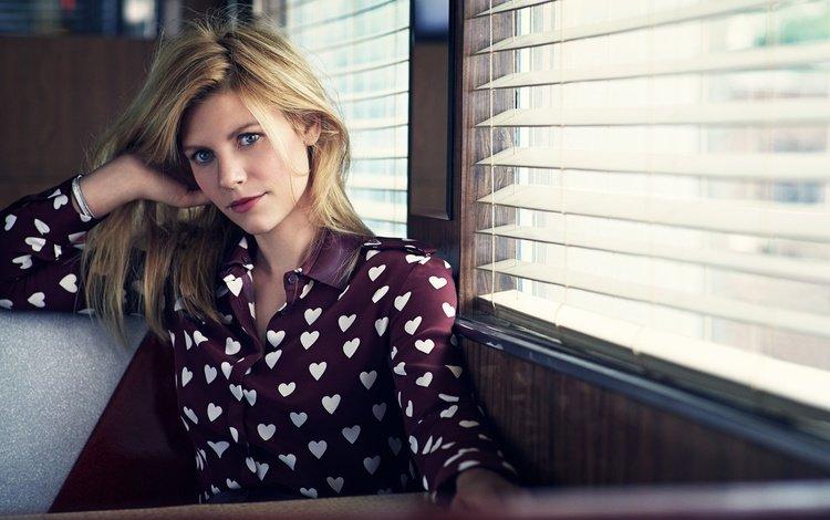 девушка, взгляд, окно, блузка, vogue, клэр дейнс, girl, look, window, blouse, claire danes