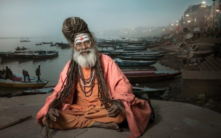 фон, поза, улыбка, взгляд, человек, лицо, индия, борода, background, pose, smile, look, people, face, india, beard