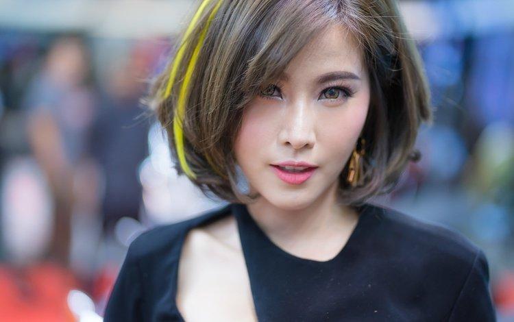 глаза, девушка, портрет, взгляд, волосы, губы, лицо, азиатка, eyes, girl, portrait, look, hair, lips, face, asian