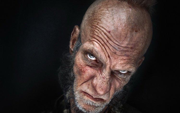 глаза, портрет, взгляд, человек, черный фон, лицо, eyes, portrait, look, people, black background, face