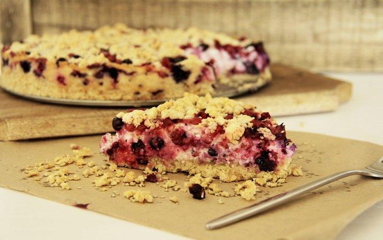 ягоды, выпечка, пирог, berries, cakes, pie