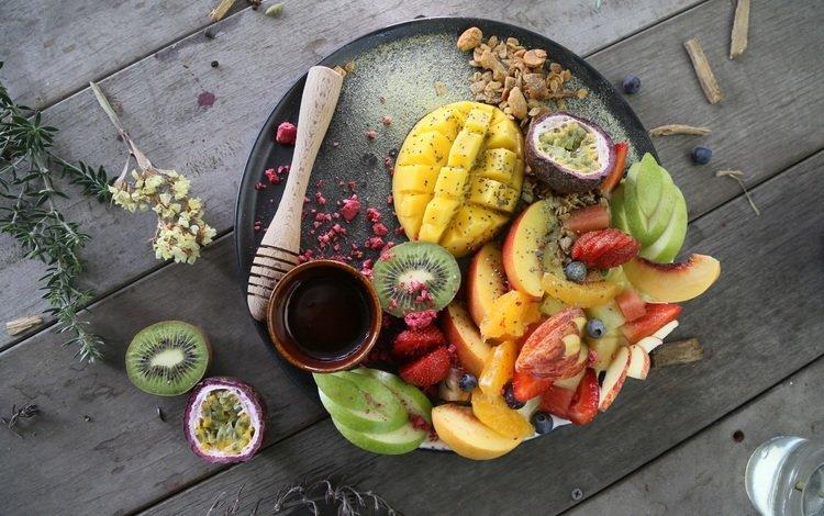 еда, фрукты, яблоки, ягоды, киви, ассорти, манго, food, fruit, apples, berries, kiwi, cuts, mango