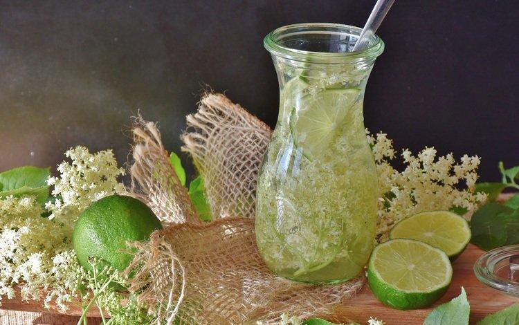 напиток, лёд, лайм, бутылка, лимонад, drink, ice, lime, bottle, lemonade