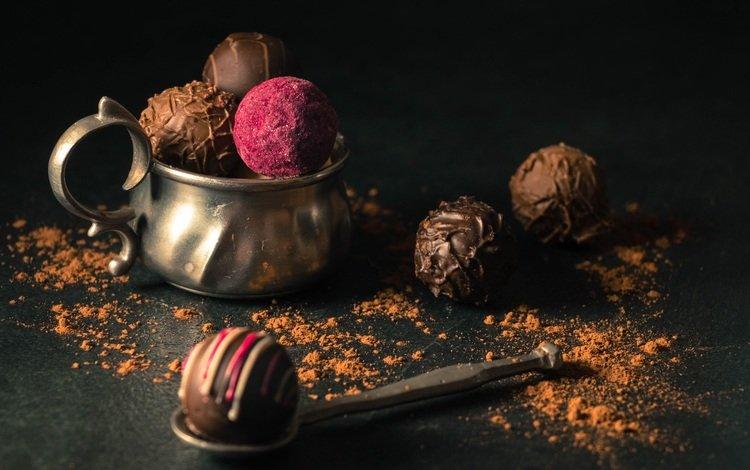 конфеты, сладости, черный фон, шоколад, десерт, какао, шоколадные конфеты, candy, sweets, black background, chocolate, dessert, cocoa, chocolates