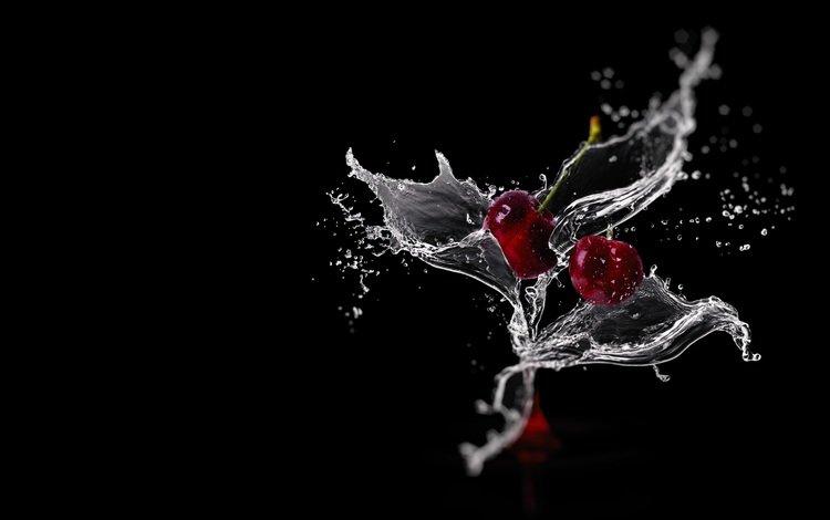 вода, фон, капли, клубника, брызги, бокал, всплеск, water, background, drops, strawberry, squirt, glass, splash