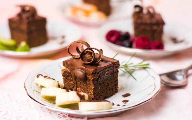 фрукты, ягоды, шоколад, десерт, пирожное, шоколадное, крем, fruit, berries, chocolate, dessert, cake, cream