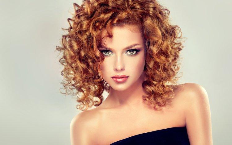 девушка, ресницы, взгляд, edward derule, рыжая, модель, кудри, макияж, прическа, помада, girl, eyelashes, look, red, model, curls, makeup, hairstyle, lipstick