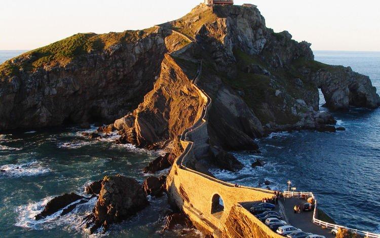 bridge, coast, bay, island, spain