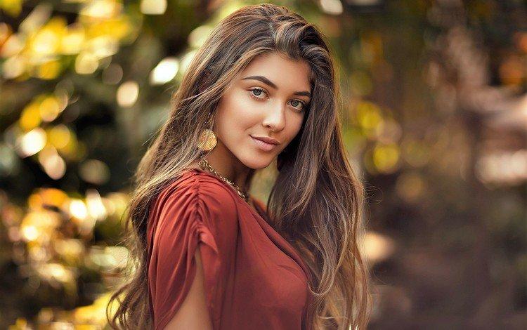 портрет, модель, волосы, лицо, красива, открытый, gевочка, portrait, model, hair, face, beautiful, outdoor, girl