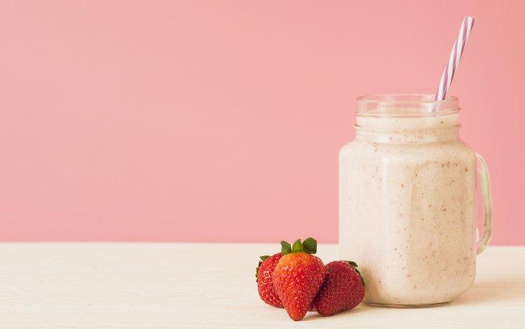 напиток, клубника, ягоды, смузи, смуззи, drink, strawberry, berries, smoothies, smoothie