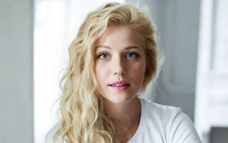 девушка, блондинка, модель, актриса, макияж, girl, blonde, model, actress, makeup