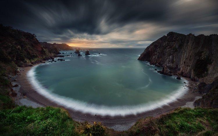 скалы, море, пляж, залив, бухта, выдержка, rocks, sea, beach, bay, excerpt
