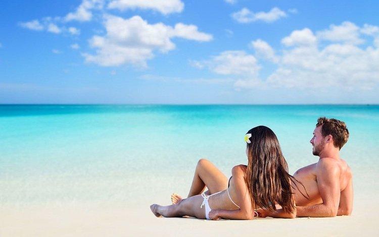 море, пляж, лето, пара, sea, beach, summer, pair