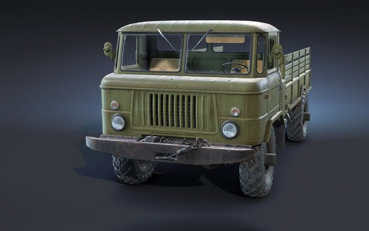 фон, машина, грузовик, freelance, gaz-66, flatbed, ryzhkov, background, machine, truck