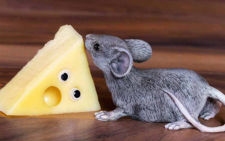 figurine, cheese, mouse